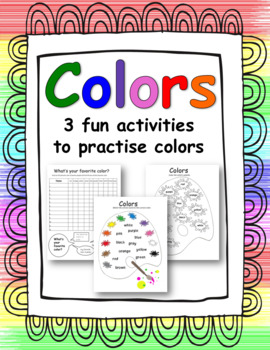 Colors - Matching, coloring and survey activities