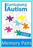 Colors Memory Pairs Game Autism Special Education Turn Taking Social Skills