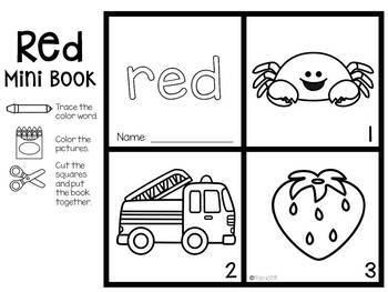 Colors Words Mini Books