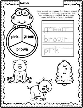 Colors No-Prep Notebook
