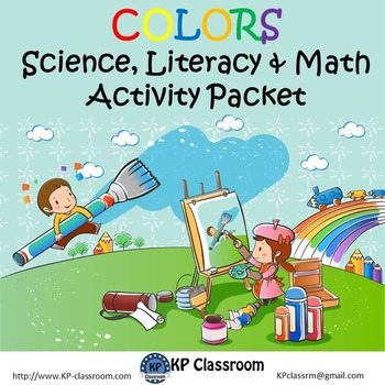 Colors No Prep Science Literacy and Math Activity Packet Printable Worksheets