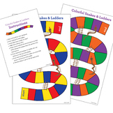Colors & Numbers Game: Snakes & Ladders // English or Span