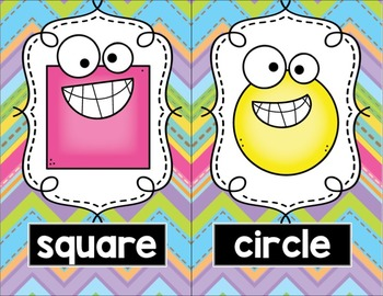 Colors, Numbers, & Shapes Posters: Pastel Chevron
