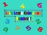 Colors & Numbers Smart Board Activities and Centers