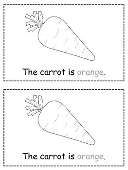 Colors {ORANGE} Emergent Reader & Class Poster