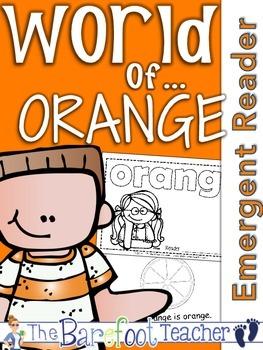 Colors {ORANGE} Emergent Reader & Class Poster