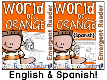 Colors {ORANGE/ANARANJADO} Emergent Readers - ENGLISH & SPANISH