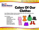 Colors Of Our Clothes - Song (mp3), lesson materials & printables
