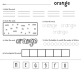 Colors Packet [Writing, Tracing, Adding, Coloring]