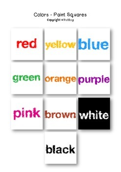 Colors Paint Squares Labels or Posters