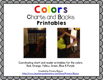 Colors Pocket Charts and Printable Books