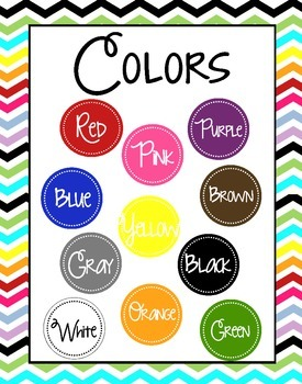 Colors Poster-Chevron Background