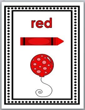 Color Words Posters - Balloon Theme Classroom Decor