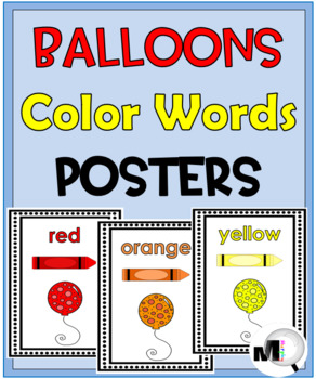 Color Words Posters - Balloon Theme
