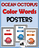 Ocean Theme Classroom Decor ~ Color Words Posters