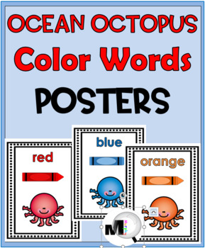 Color Words Posters – (Ocean Theme)