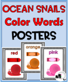 Ocean Theme Classroom Decor - Color Word Posters