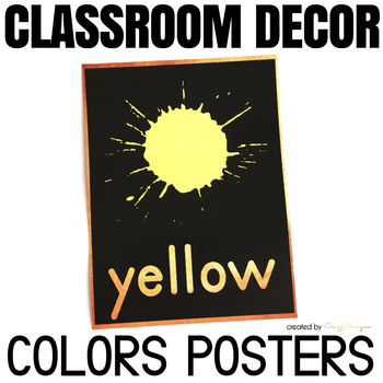 Colors Posters - Classroom Decor Black and Gold