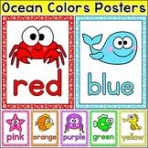 Ocean Theme Colors Posters - Editable Under the Sea Classroom Decor