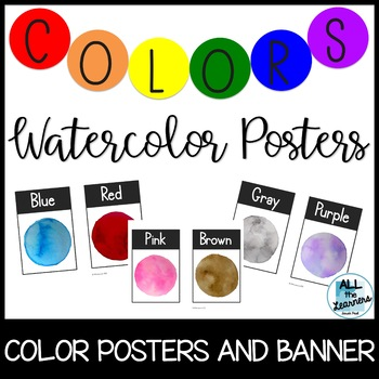 Colors Posters (Watercolor Theme)
