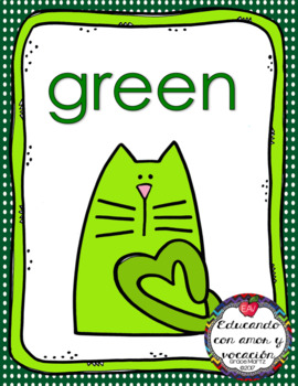 Colors (Posters/Worksheets) Spanish & English