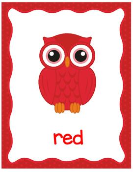 Owls Color Posters