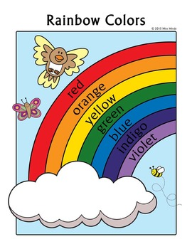 Colors Practice Rainbow Coloring Page - English Color Worksheet