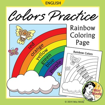 English Coloring Worksheets Teaching Resources Tpt