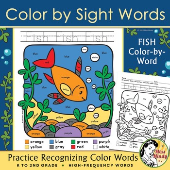 Colors Practice: Sight Words Practice with Color-by-Word O