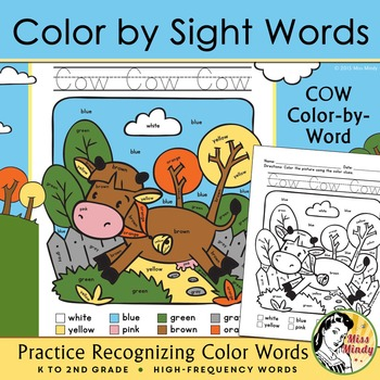 Colors Practice Sight Words Practice with Color-by-Word Farm Animals (Cow)  sc 1 st  Teachers Pay Teachers & Colors Practice: Sight Words Practice with Color-by-Word Farm ... 25forcollege.com