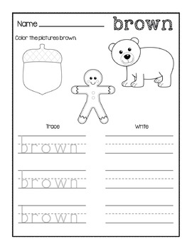 colors print go worksheets by true teaching tpt. Black Bedroom Furniture Sets. Home Design Ideas