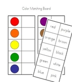Colors Printable Matching Board