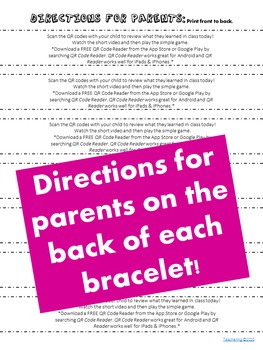 Colors Homework {Bracelet with review video & family game}
