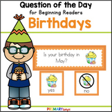 Kindergarten and Preschool Question of the Day for Birthdays