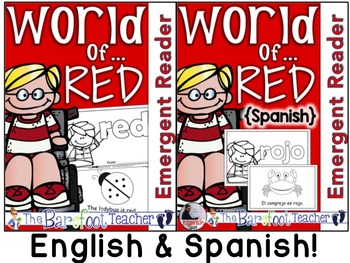 Colors {RED/ROJO} Emergent Readers - ENGLISH & SPANISH