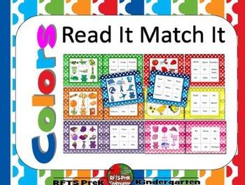 Colors: Read It Match It