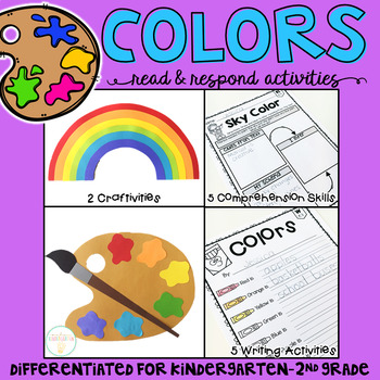 Colors: Reading Comprehension, Writing and Craftivities