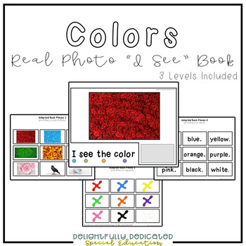 "Colors Real Photo ""I See"" Book for Special Education Classrooms"