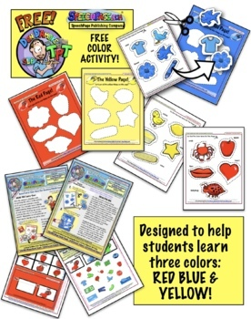 Colors: Red, Yellow, Blue! A Fun Match Color Activity From Don D'Amore TPT!