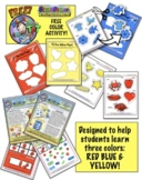 Colors: Red, Yellow, Blue! A Fun Match Color Activity From
