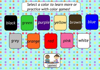 Colors SMART Board lesson
