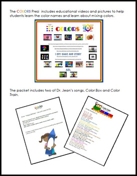 Colors STEAM Activity Packet