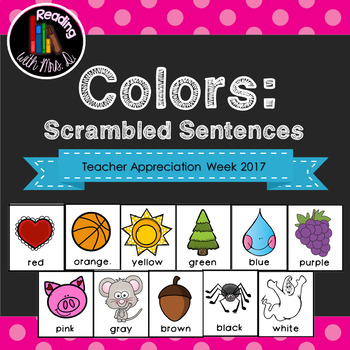 12 Colors Scrambled Sentences