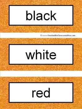 French Color Words Pocket Chart Cards and Worksheets Français Orange