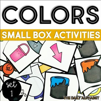 Colors Set 1: Small Box Activities