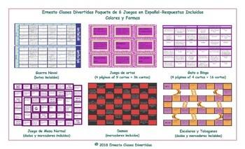 Colors & Shapes 6 Spanish Game Bundle