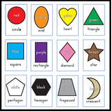 Colors & Shapes Basics - Wall Cards & Flashcards - Sunshine Script
