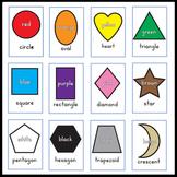 Colors & Shapes Basics - Wall Cards & Flashcards - Sunshin
