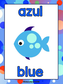 Colors & Shapes Bilingual (English/Spanish) - Finding Dory theme