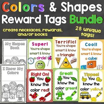 Colors & Shapes Reward Tags Bundle - Individual Tags for Colors & 2D & 3D Shapes